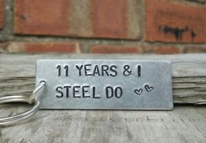 I Steel Do 11th Wedding Anniversary Gifts For Him Her Husband Wife Keyring Love Ebay