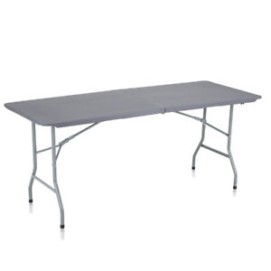 Détails sur Table de Jardin Pliant Table Camping Picnic Plateau Pliable  Plastique Banquet