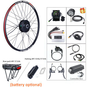 BAFANG BBS02B 48V 500W Rear Hub Motor Kits New 850C Display Battery DIY Ebike