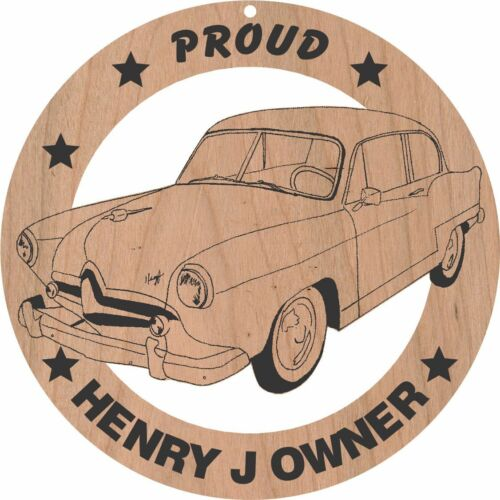 Henry J Coupe Wood Ornament Engraved