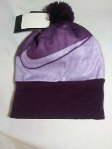 NEW-GIRLS-NIKE-BEANIE-HAT-AND-GLOVES-SIZE-7-16-COLOR-BOLD-BERRY