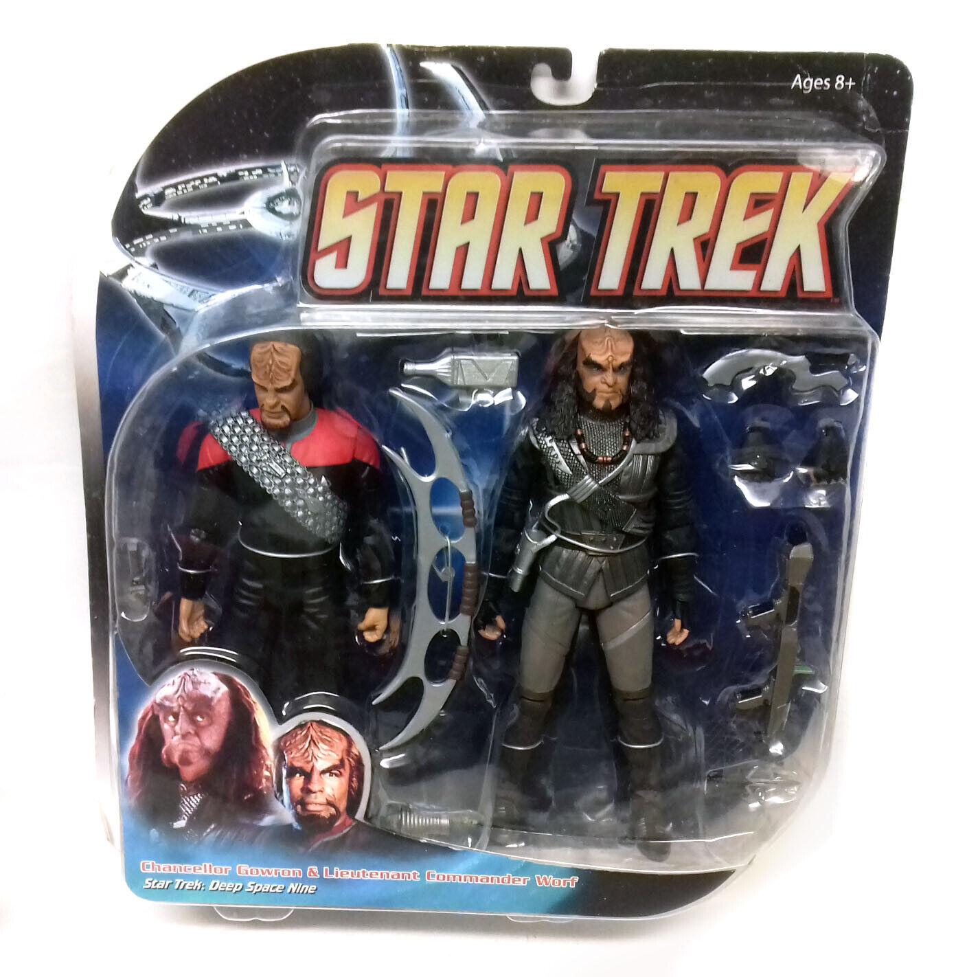 Star Trek Deep Space Space Space Nine   Worf and Gowron 6  action figure set by art asylum bcb5c2