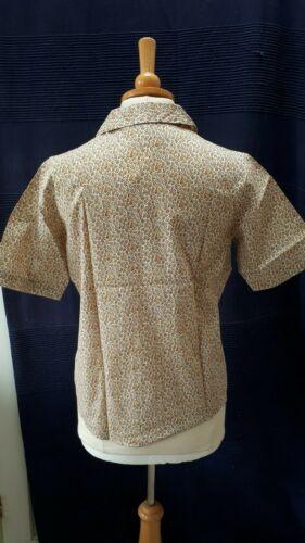 Size 12 Liberty print Tana Lawn short sleeve rever collar ladies blouse ID17