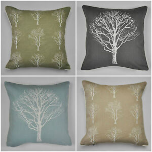 Woodland-Forest-Trees-Cushion-Covers-4-Colours-Available-17-034-x-17-034