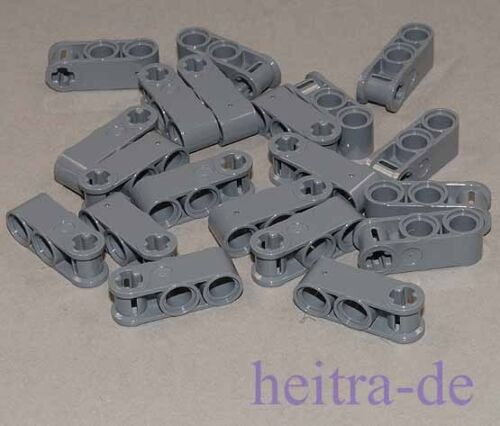 LEGO Technik 20 Verbinder 1x3 42003 NEUWARE 2 x Pinloch Achsloch dunkelgrau