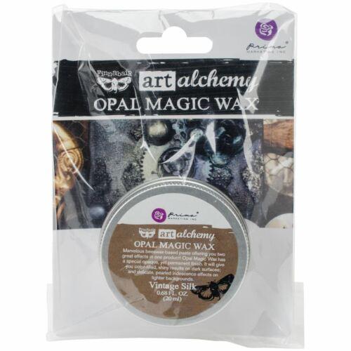 Finnabair Art Alchemy Opal Magic Wax .68 Fluid Ounce-Vintage Silk