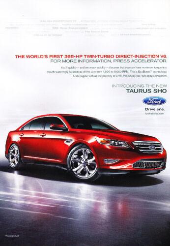 Classic Vintage Advertisement Ad PE96 2011 Ford Taurus SHO 365hp