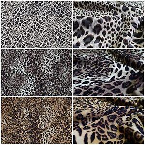 100% Viscose Tissu Impression Numérique Léopard Tissu Déco Vêtements Au Mètre
