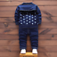 3pcs Kids Baby clothes baby clothes denim outfits top T shirt coat+pant star