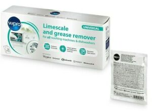 WPRO UNIVERSAL WASHING MACHINE LIMESCALE /& DEGREASER PACK OF 12C00424828