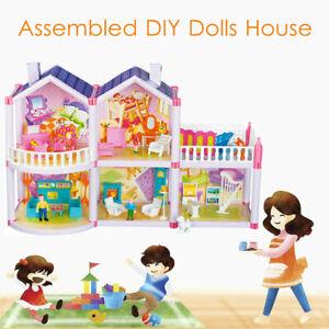 DIY-Handcraft-Dream-House-Dollhouse-Furniture-Playhouse-Maniature-Girls-Gifts