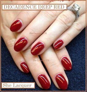 Image Is Loading Bluesky Decadence 80525 Dark Red Burgundy Uvled Soak