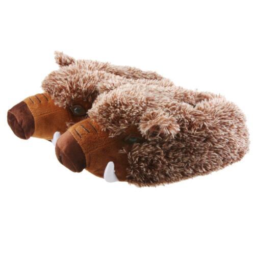 brun pantoufles Sanglier 41 pantoufles peluche pantoufles 48 sanglier mens wfyCpxUzq