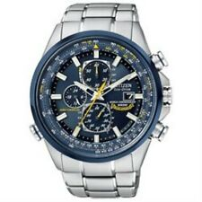Citizen Mens AT8020-54L Blue Angels Skyhawk Stainless Steel A-T Eco-Drive Watch