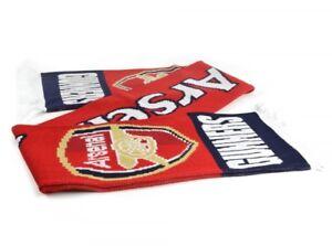 Arsenal-601-Jacquard-Tricot-echarpe-rouge-artilleurs-Official-Licensed-Product