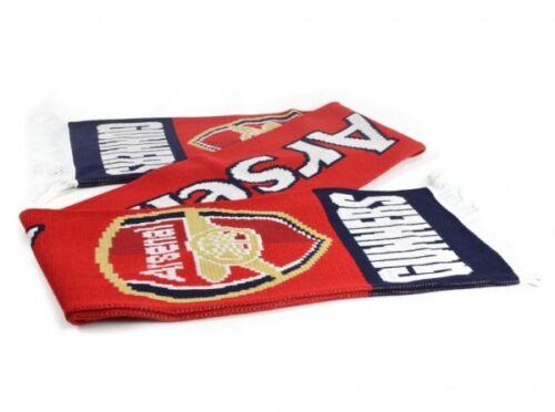 Arsenal 601 Jacquard Tricot écharpe rouge artilleurs Official Licensed Product