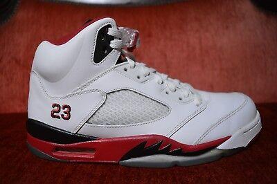 brand new e5f58 04744 CLEAN Nike Air Jordan Retro 5 V Fire Red Black Tongue Size 10.5 136027 120  | eBay