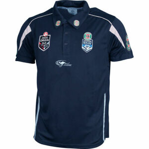 New-South-Wales-Blues-State-Of-Origin-Navy-Team-Polo-Shirt-Size-Small-ONLY-5