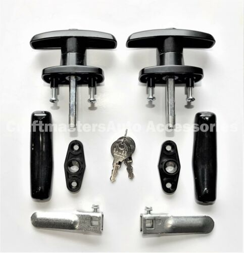 Key #J327 Truck cap Lockable T-Handle Pair with accessories #T323-J327