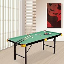4.5 ft Mini Table Top Pool Table Game Billiard Set Cues Balls Gift Indoor Sports