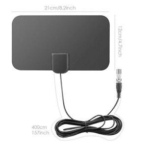 TV-Antenna-HDTV-Flat-HD-Digital-Indoor-Amplified-50-Mile-Ran-TVFox-VHF-UHF-DVBXJ