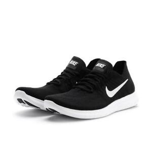 3503fd85a3c Nike Free Rn Flyknit 2017 Men s Running Training Shoes Black 880843 ...