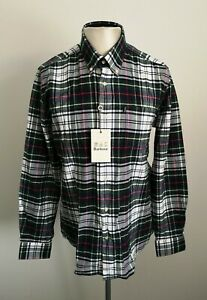 BNWT-Mens-Barbour-Castlebay-Check-Smart-Casual-Long-Sleeve-Shirt-Size-Large