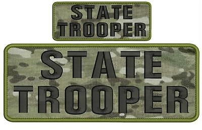 state police embroidery patches 3x6 hook multicam