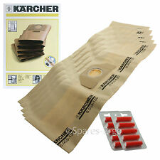 5 x Genuine Karcher Vacuum  Dust Bags WD3.000 WD3.999 Hoover Bag + Fresh