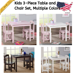 Kids 3 Piece Table And Chair Set Solid Wood Furniture