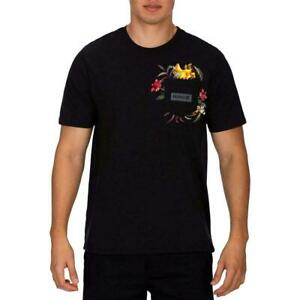 Hurley-Mens-T-Shirt-Black-Size-XL-Fatcap-Pocket-Logo-Graphic-Tee-28-074