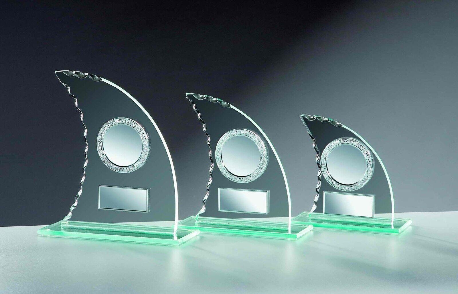 6 trofeos de vidrio vela - dentada hoja 17cm  11 (trofeos de grabado de Copa de copas de vidrio)