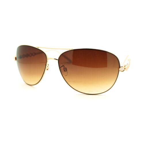 Women/'s Chic Chain Temple European Designer Fashion Sunglasses New