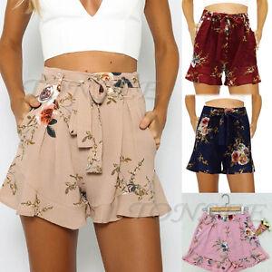 Women-Hot-Pants-Summer-Casual-Loose-Shorts-Bow-Beach-High-Waist-Short-Trousers