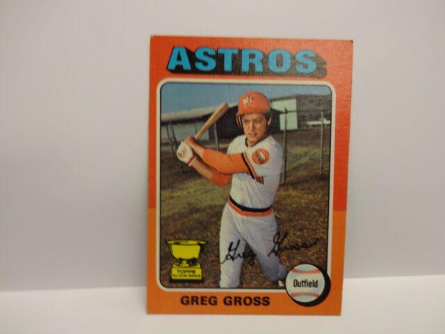 1975 Topps Baseball Greg Gross  Card # 334 Houston Astros