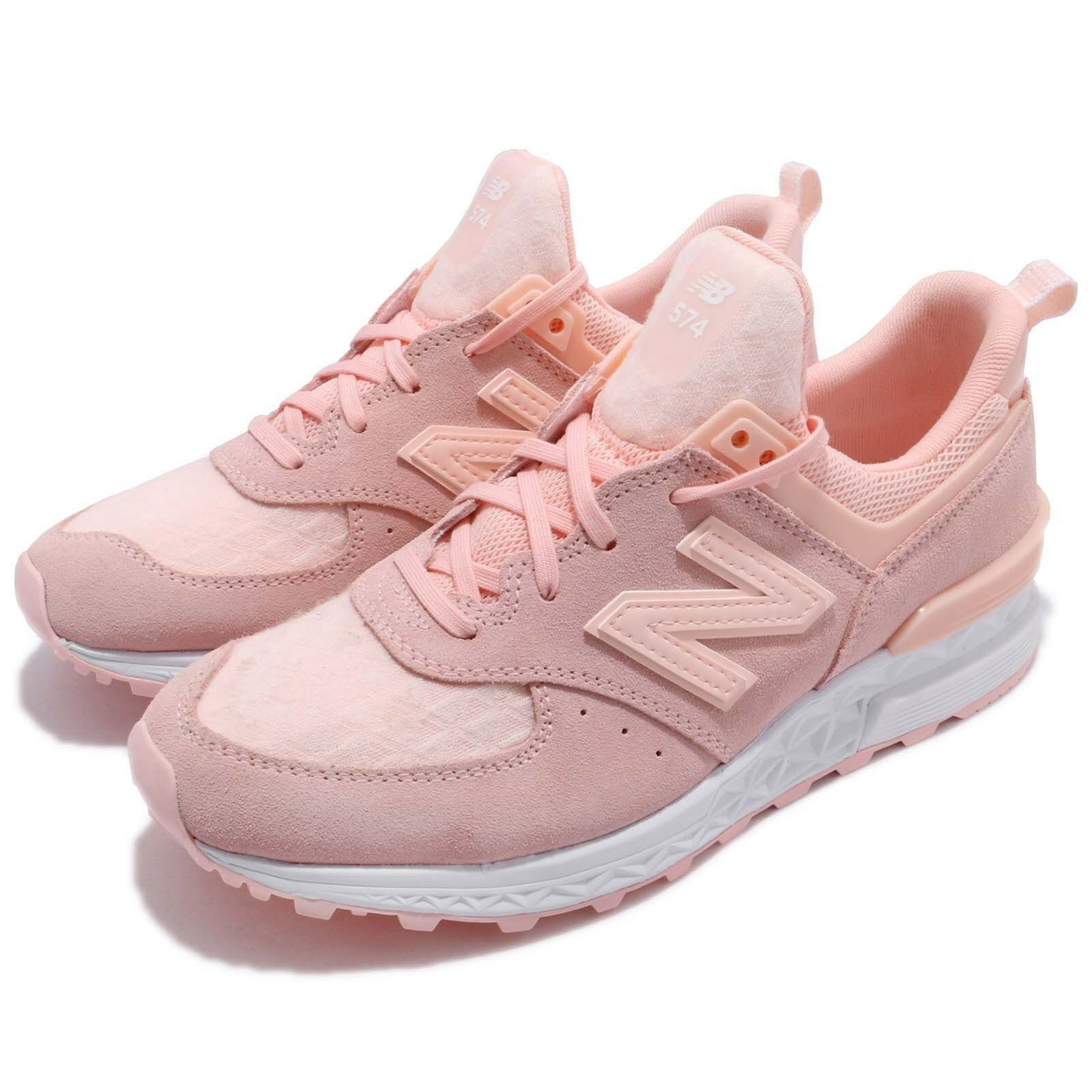 New Balance WS574SNCB Suede Pink White Women Running shoes Sneakers  WS574SNCB  fashion brands