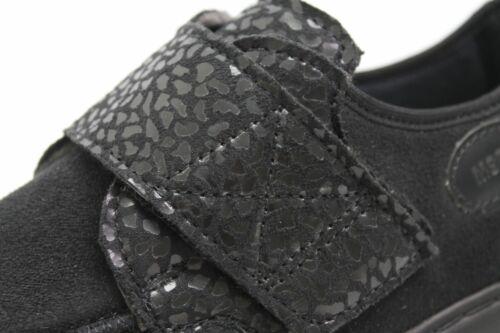 Klettverschluss Komfortschuhe Schwarz Textil Msf Damen Lederfußbett Schuhe q4YYvt