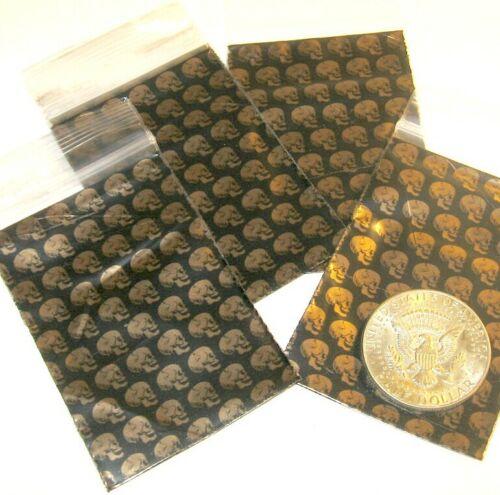 small ziplock bags 2030 100 Golden Skulls Apple Baggies 2 x 3 in