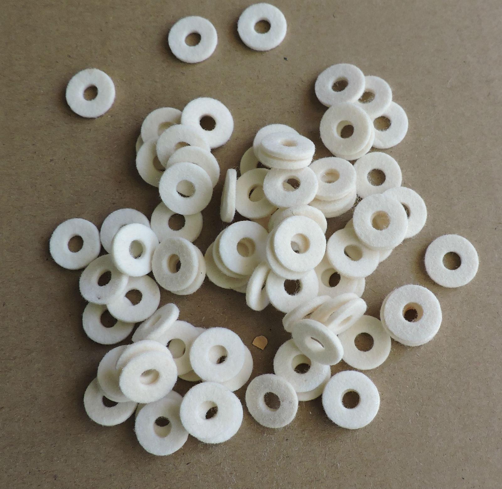 200 piezas de accesorios de TROMPETA TROMPETA Y Y Y blancoo Cojín de fieltro cff166