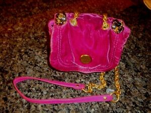 quality products special sales special for shoe Details about JUICY COUTURE BERRY VELVET W/BEADED RHINESTONE CROSSBODY  SMALL BAG HANDBAG