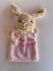 9-034-Dan-Dee-Pink-Bunny-Rabbit-My-First-Puppet-Soft-Plush-Baby-Toy-Easter-Girl