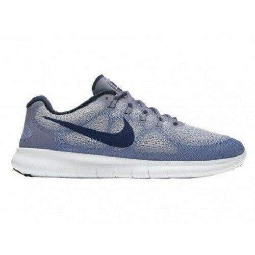 Nike Free RN 2017 Run Wolf Grey bluee Men Running   Trainers 880839-006 Sz 6.5