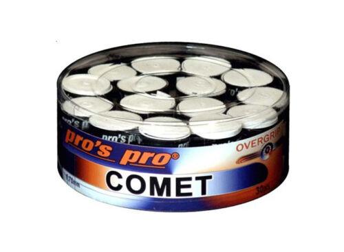 Box of 30 Pro/'s Pro Comet Tennis Overgrips Squash Badminton Grip White