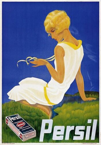 Vintage Persil Washing Powder Advertisement Poster A3 Print