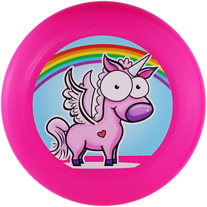 NG - Eurodisc175g Ultimate Frisbee Einhorn Rainbow PINK BIOKunststoff nachhaltig