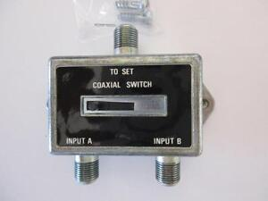 A B Coax Coaxial Slide Switch For Tv Antenna Cable 75 Ohm