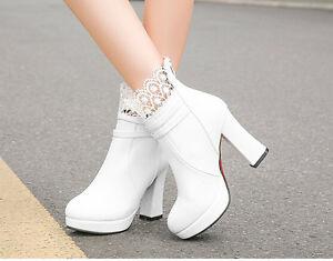 Botines botas zapatos de mujer talón 10 cm encaje como piel beige 9130