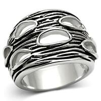 Hope Chest Jewelry Antique Silver Tone Finish Artistic Fashion Ring Size 7