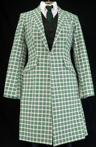 Reed Reed Reed Hill Saddleseat Day Coat verde Lorianne plaid 12   177 cae3fd