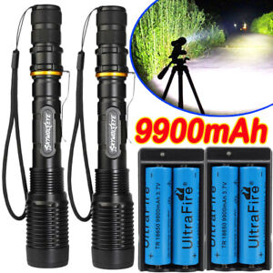 Tactical-Police-350000Lumens-5-Modes-18650-T6-LED-Flashlight-Aluminum-Zoom-Torch